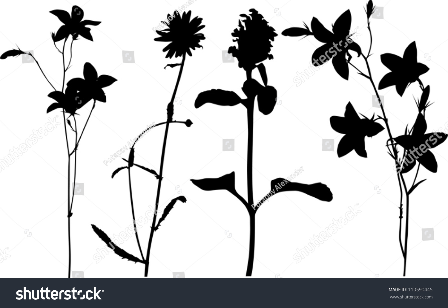 Wildflower Silhouette Vector | www.imgkid.com - The Image ...