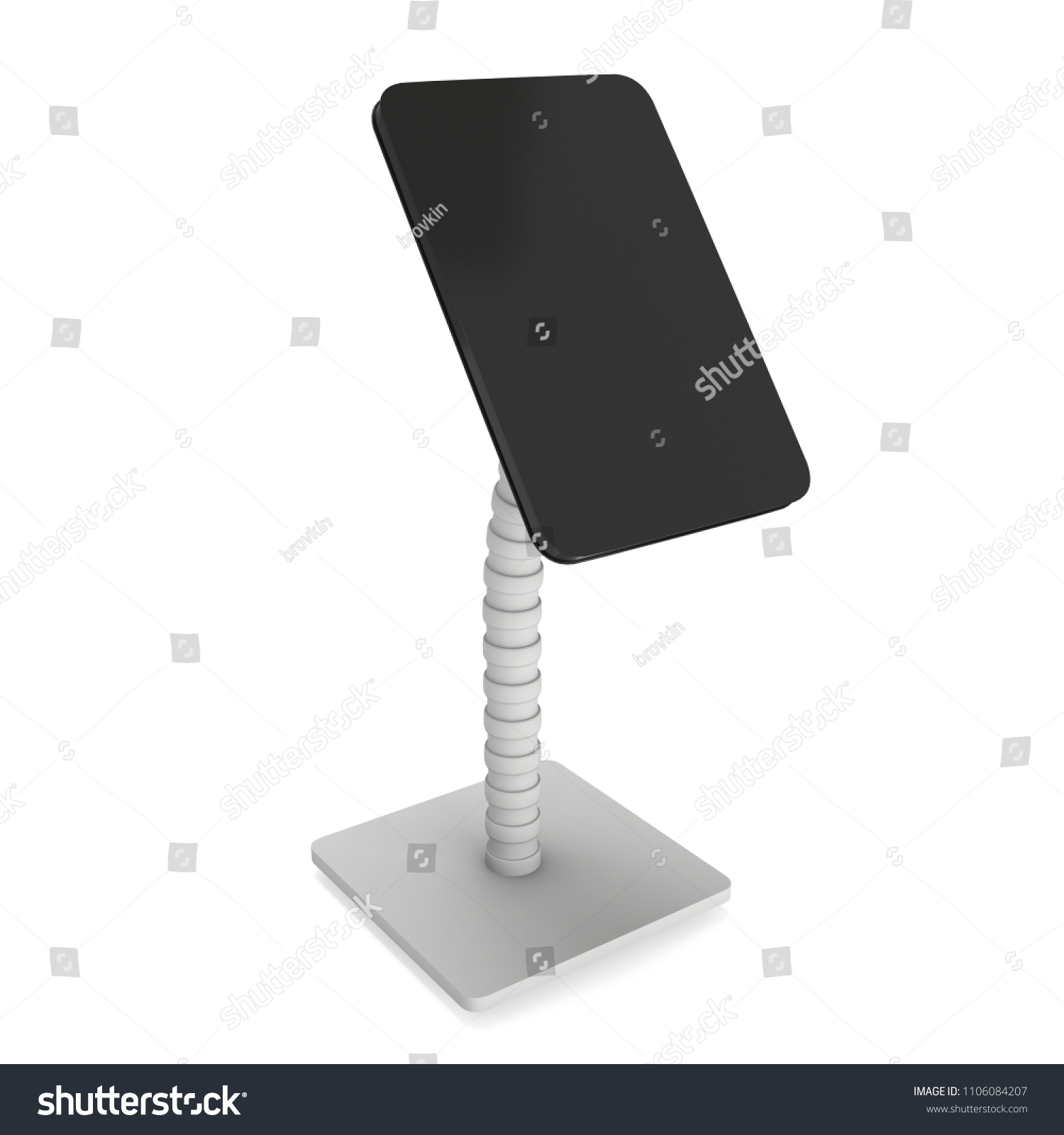 Lcd Screen Stand Trade Show Booth Stock Illustration 1106084207