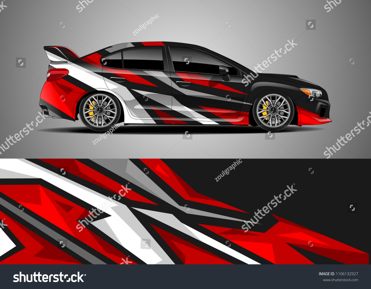 Car decal vector graphic abstract racing designs for vehicle sticker vinyl wrap