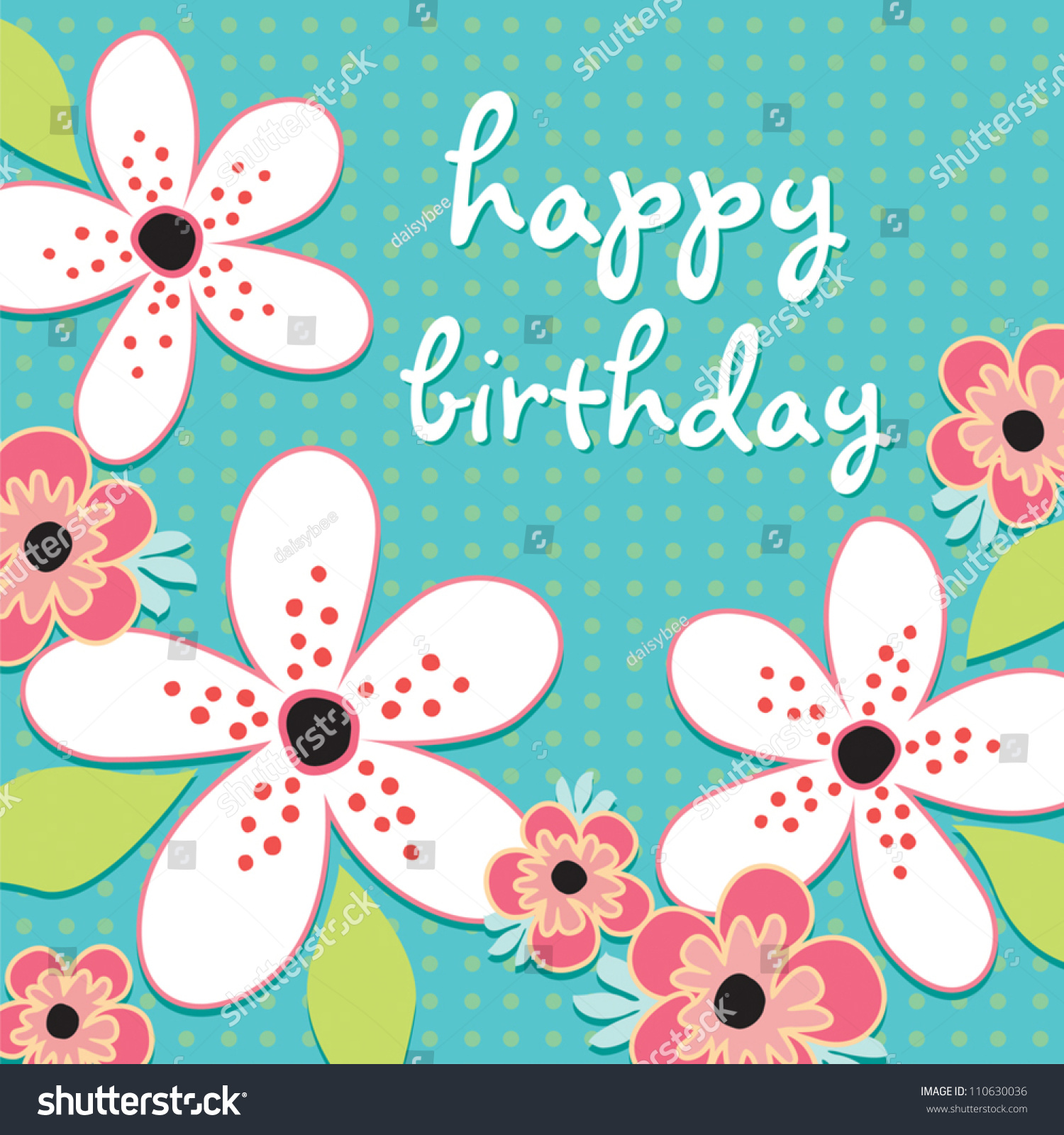 Vector Greeting Card Template In Aqua And White Suitable For