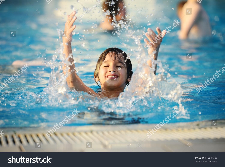 Splash Water Pool Kid Summer Stock Photo 110647763 Shutterstock