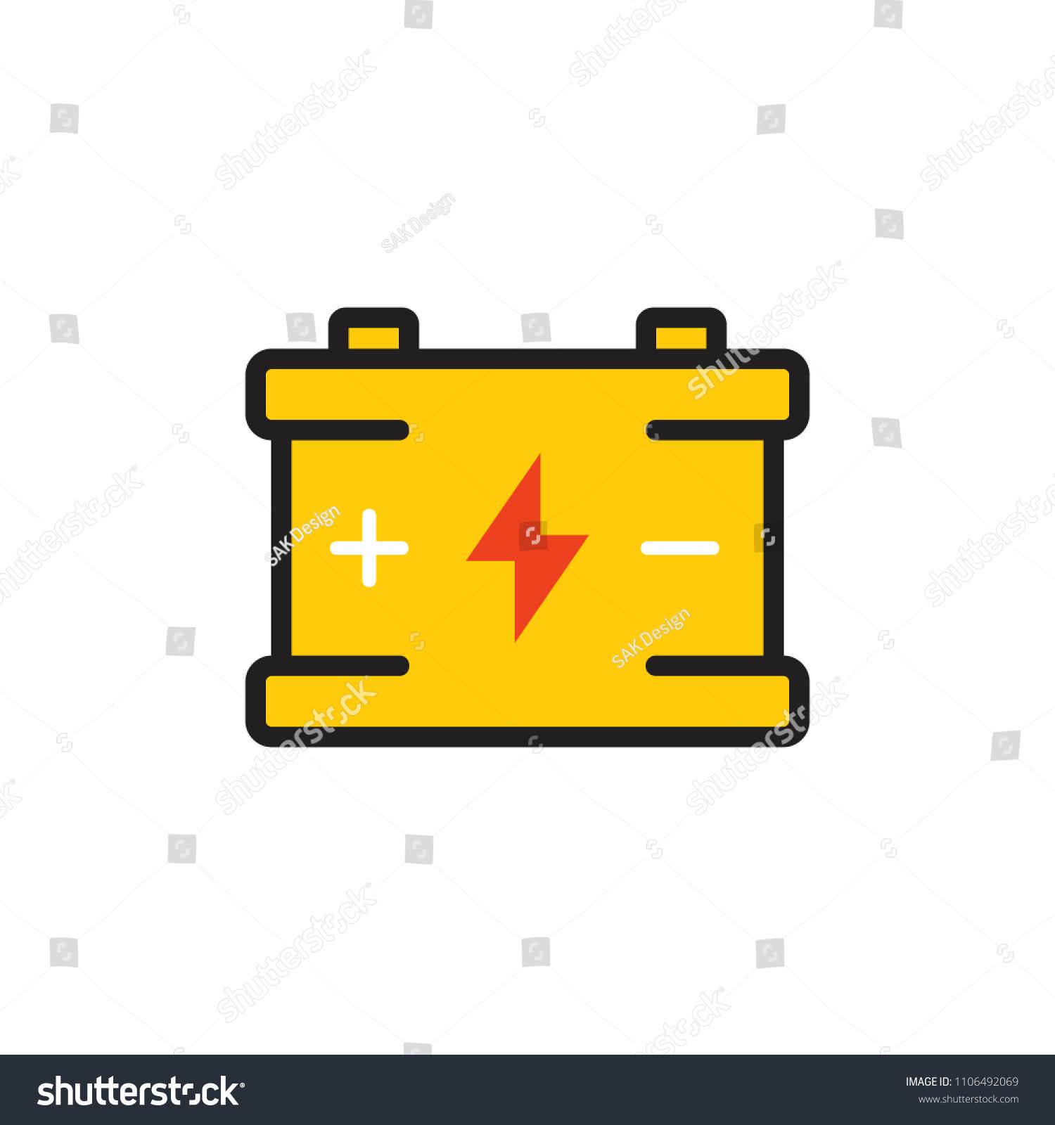 Car Battery Logo Icon Design Stock Vector Royalty Free 1106492069 Diagram Of A