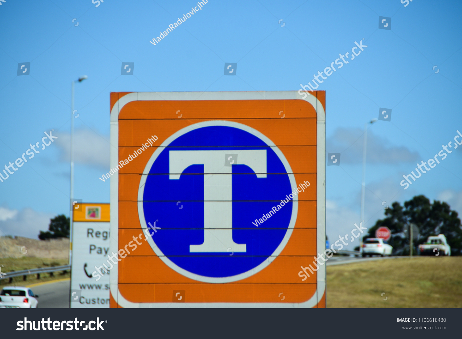 Johannesburg Gauteng South Africa 28 May Stock Photo Edit Now E Toll 2018 Blue And Yellow
