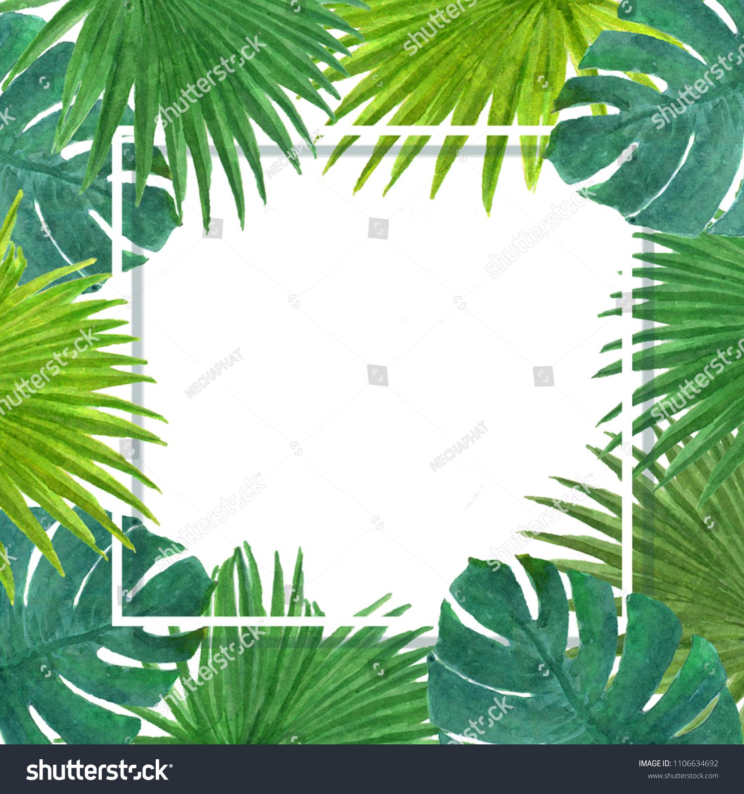 tropical rainforest leaf template