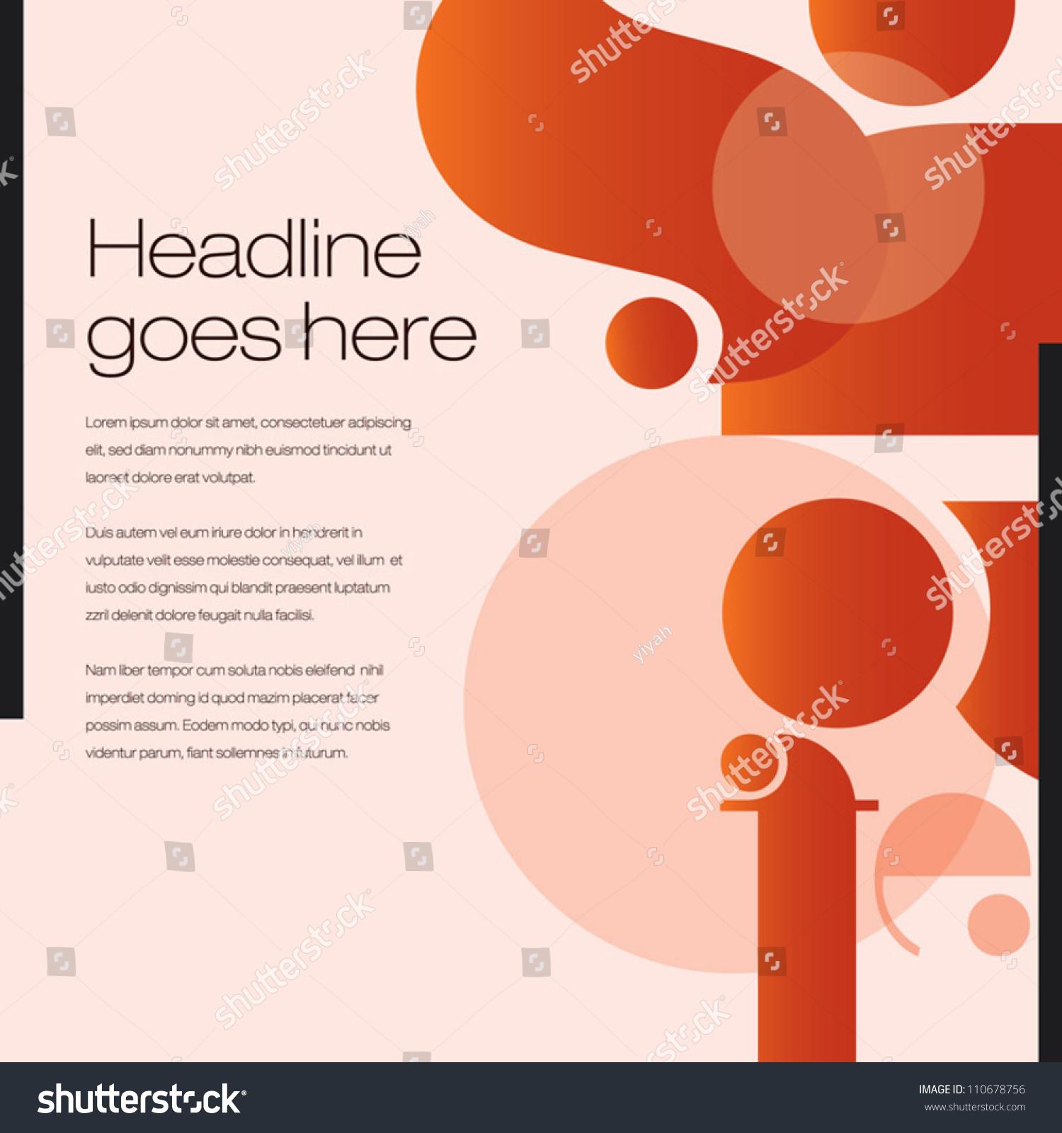 print poster background design layout graphics stock. Black Bedroom Furniture Sets. Home Design Ideas
