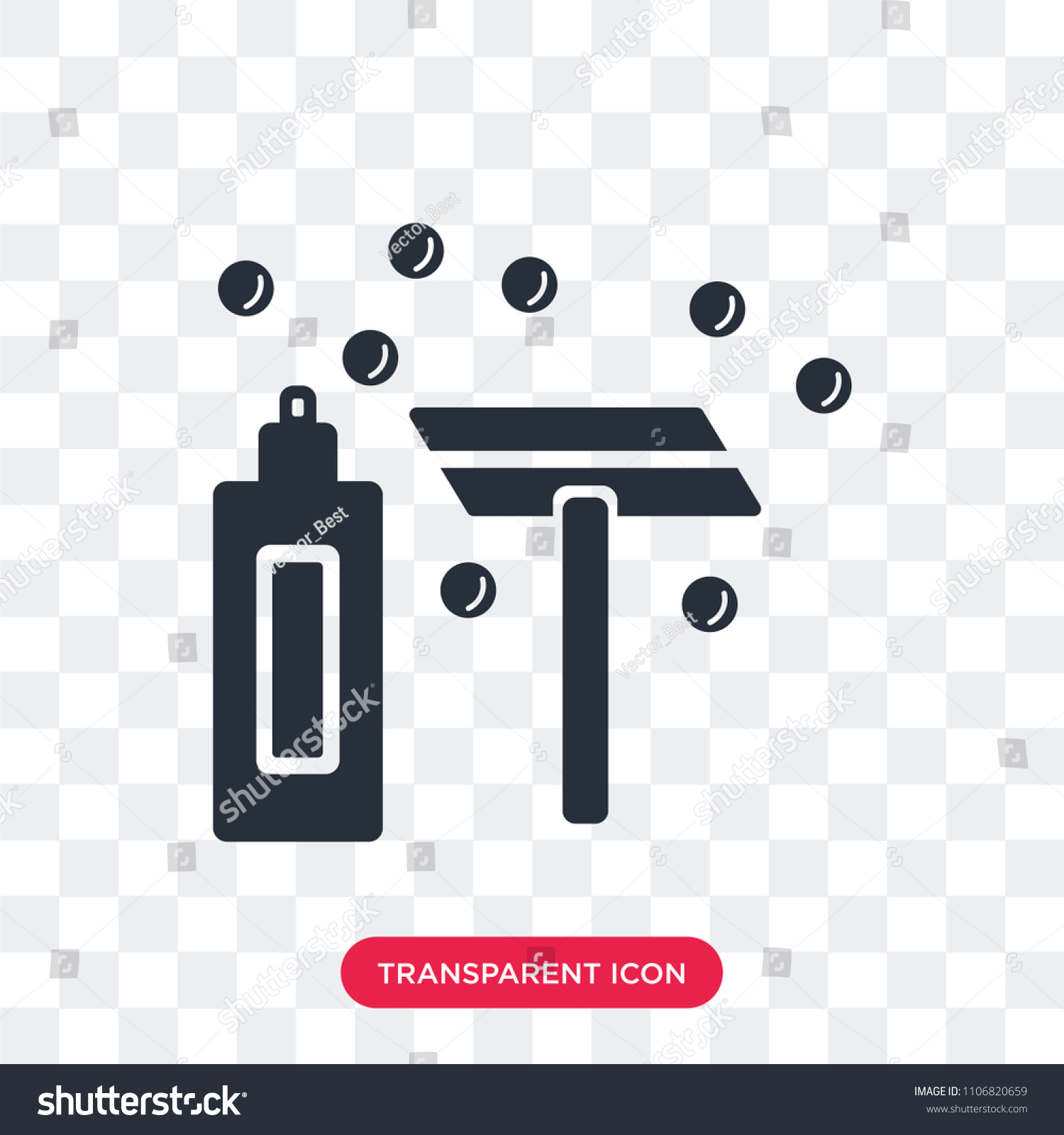 Shave Vector Icon Isolated On Transparent Background, Shave Logo Concept