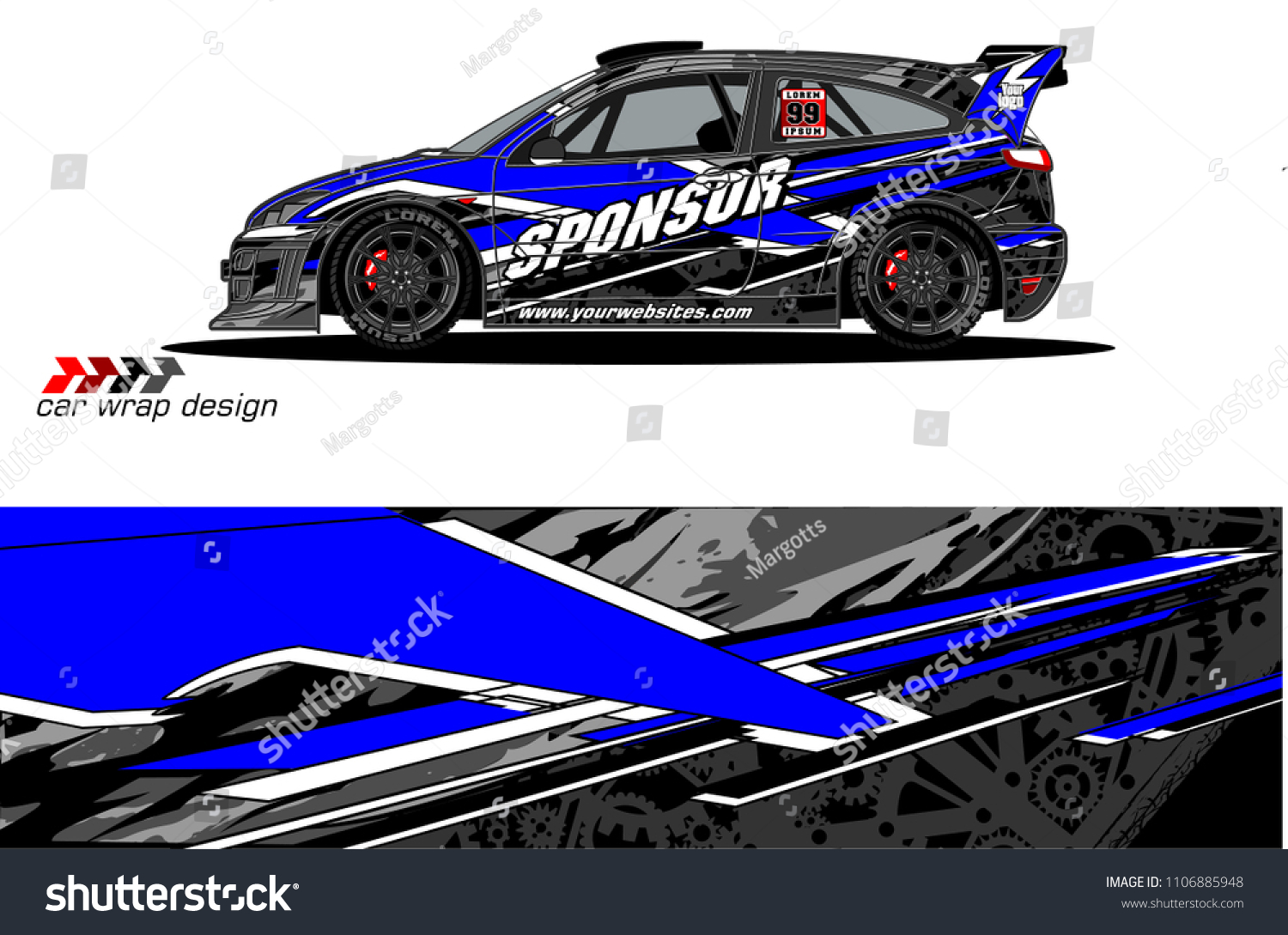 Car Graphic Background Vector Abstract Racing Stock Vector Royalty