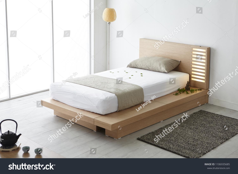 Modern Peaceful Bedroom Zen Style Bedroom Editar Agora Foto Stock 1106935685