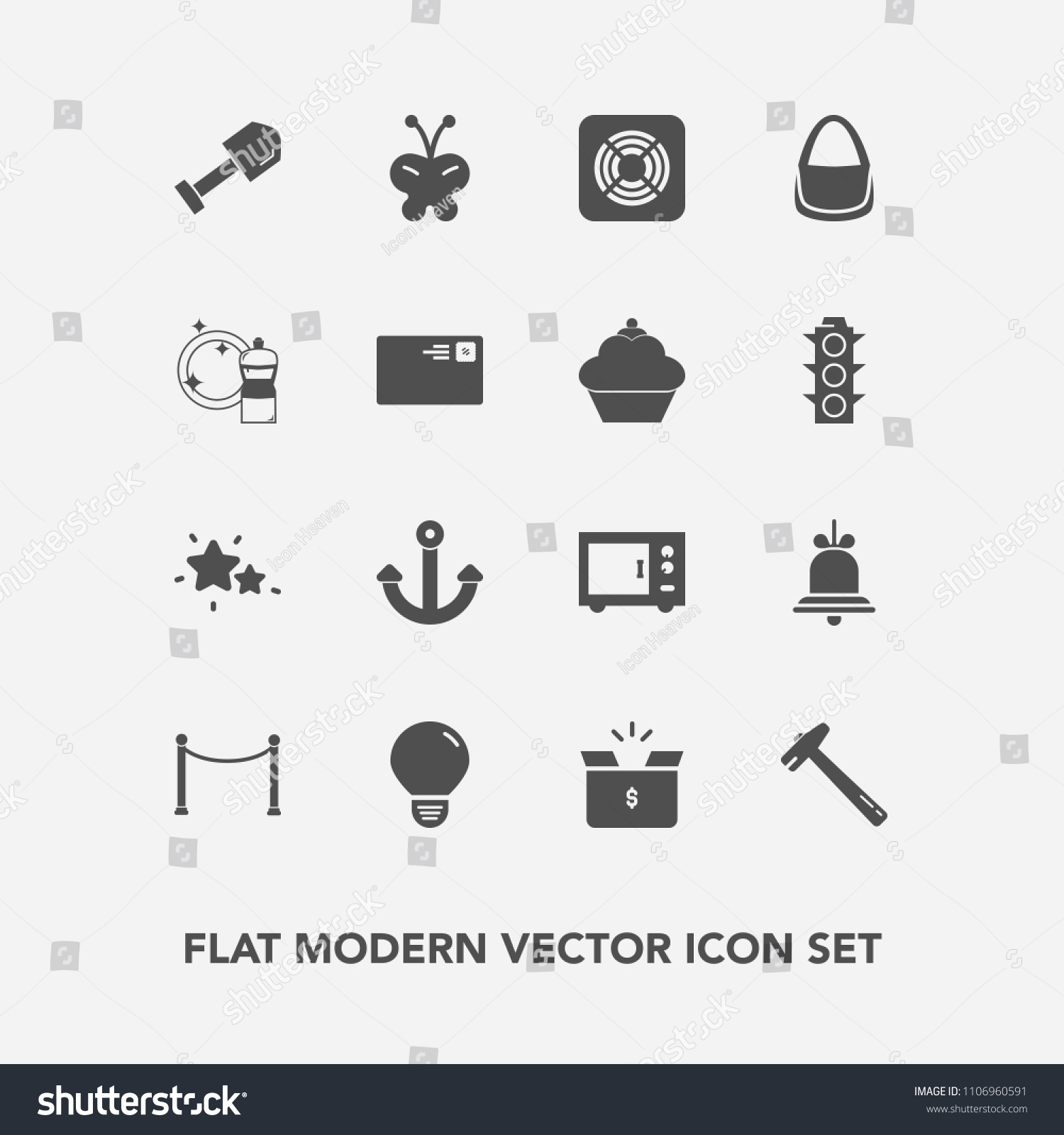 Modern Simple Vector Icon Set Fan Stock Royalty Free Skybell Wiring Diagram With Equipment Construction Alert Spanner