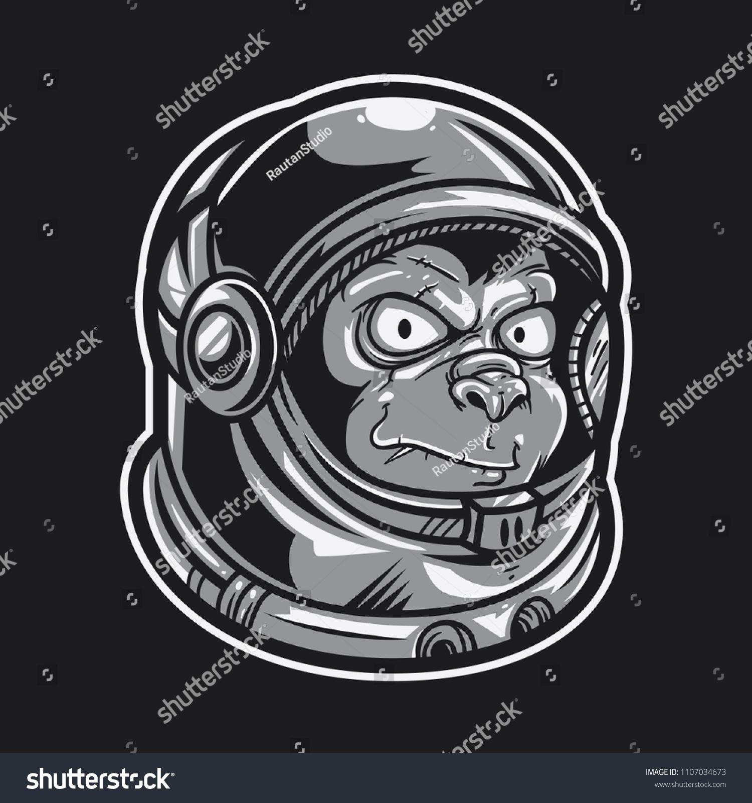 mummy of astronaut hand drawn vector illustration isolated on