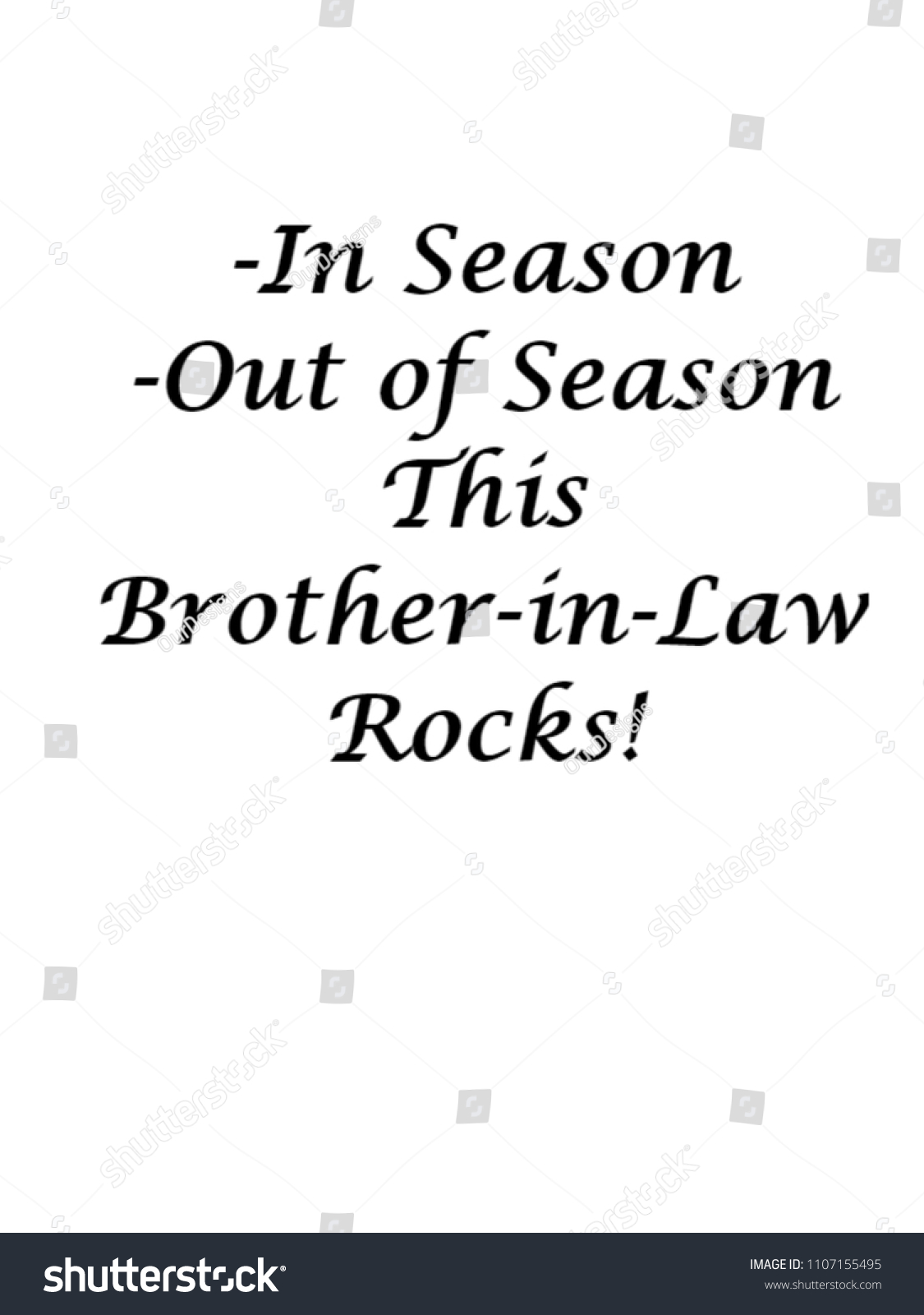 Brother In Law Motivational Greeting Quote Brotheor Him Stock