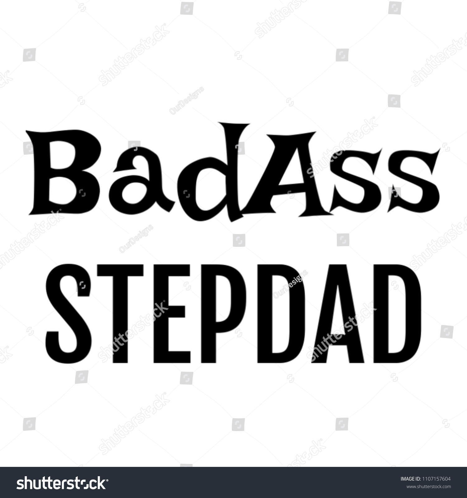 Badass Stepdad Gifts Him On Birthday Stock Illustration 1107157604 ...
