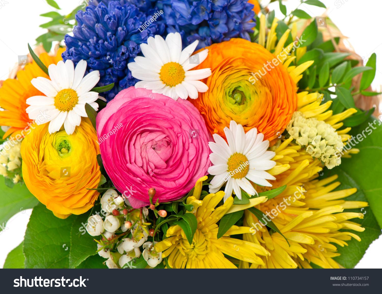 Bouquet Colorful Spring Flowers Tulip Ranunculus Stock Photo Edit