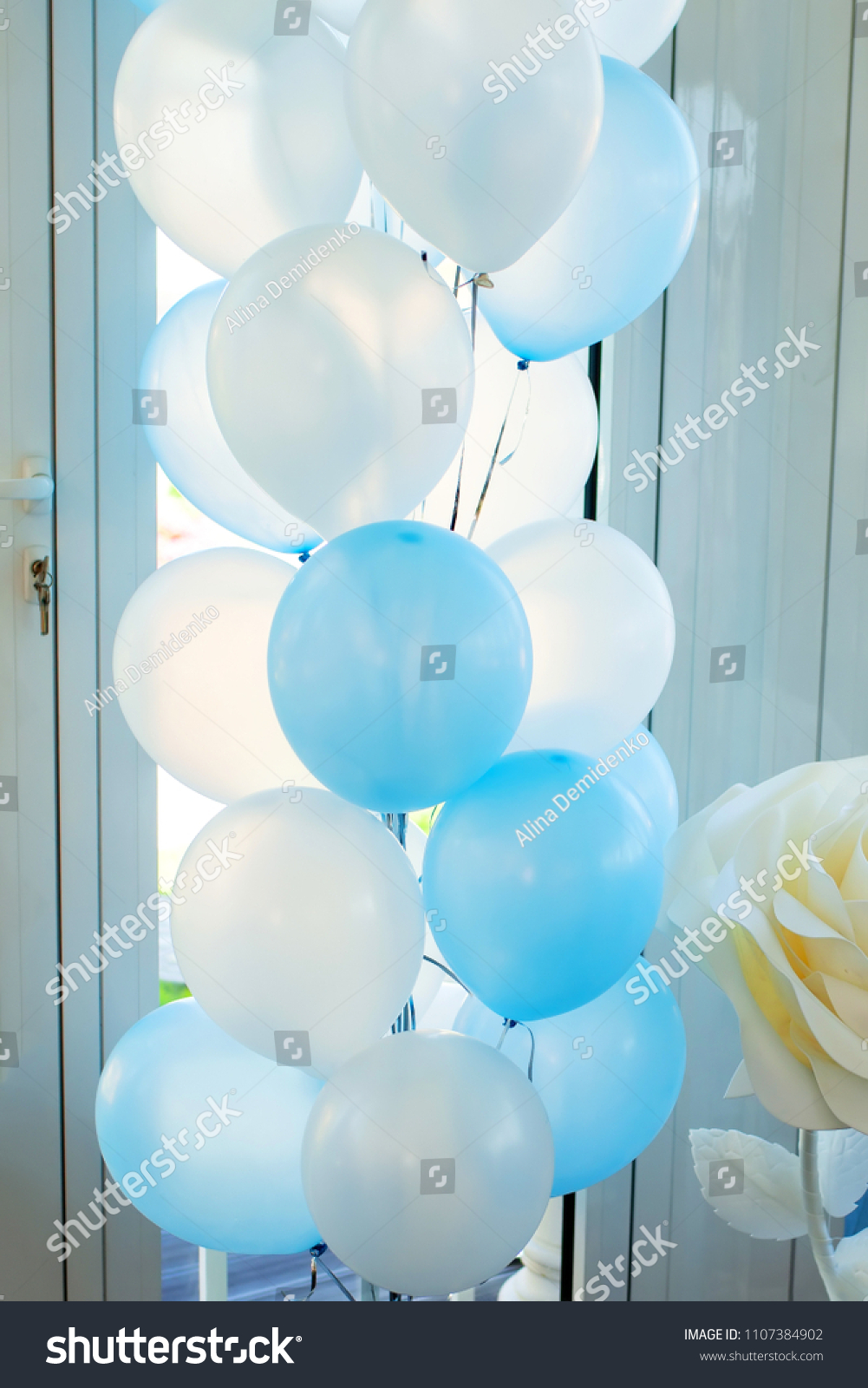 Blue And White Balloons For Boy Birthday