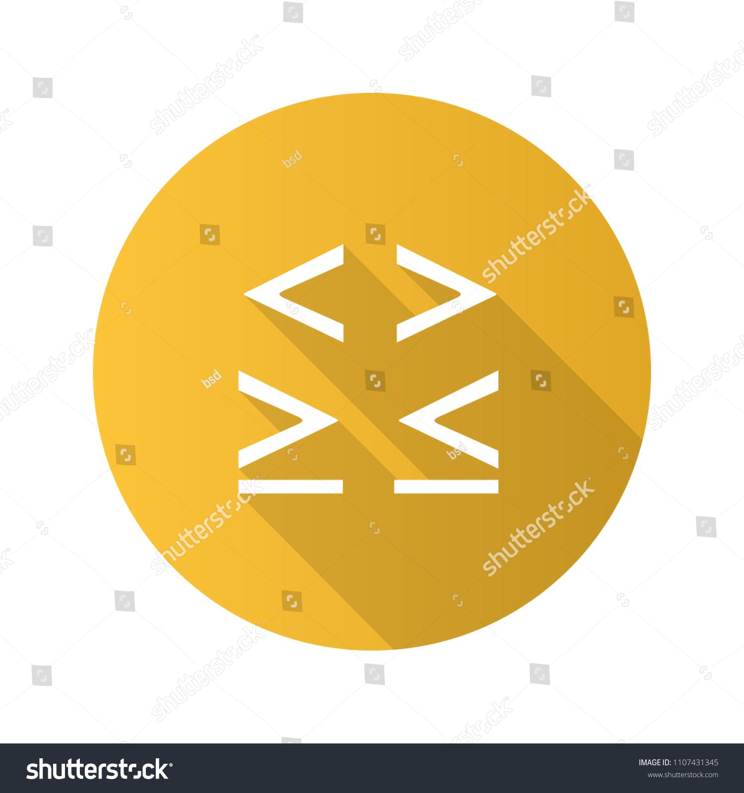 Math Symbols Flat Design Long Shadow Stock Vector Royalty Free