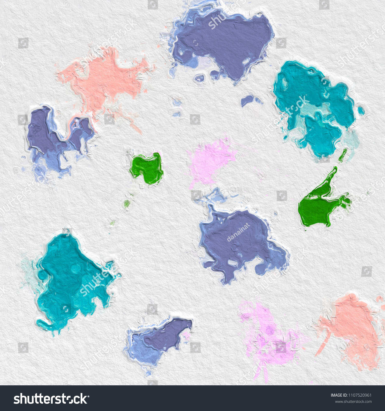 Paint Like Graphic Illustration The Nice Color Glossy Beautiful Painted