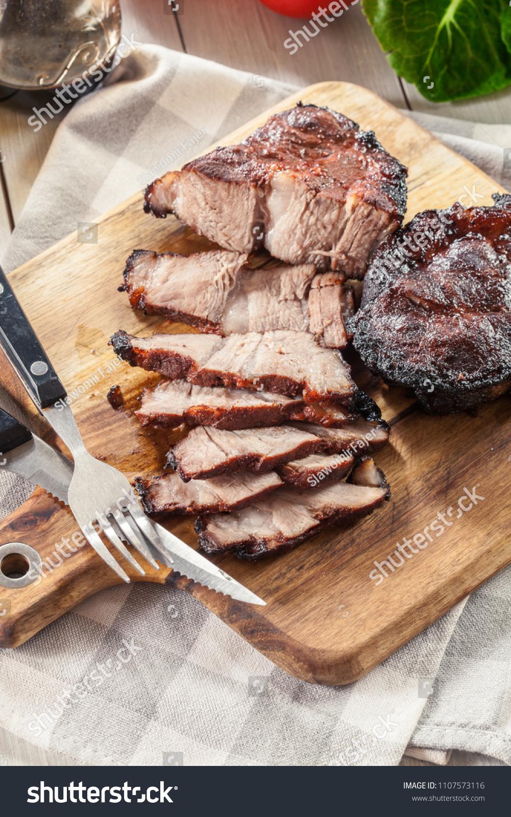 Char Siu Pork Chinese Roasted Pork Stock Photo (Edit Now