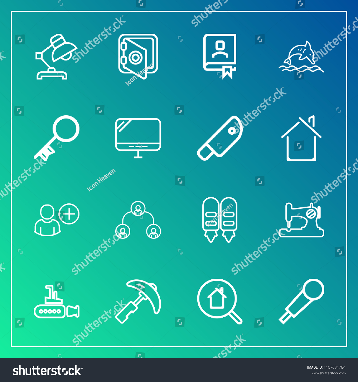 Modern Simple Vector Icon Set On Stock Vector 1107631784 - Shutterstock