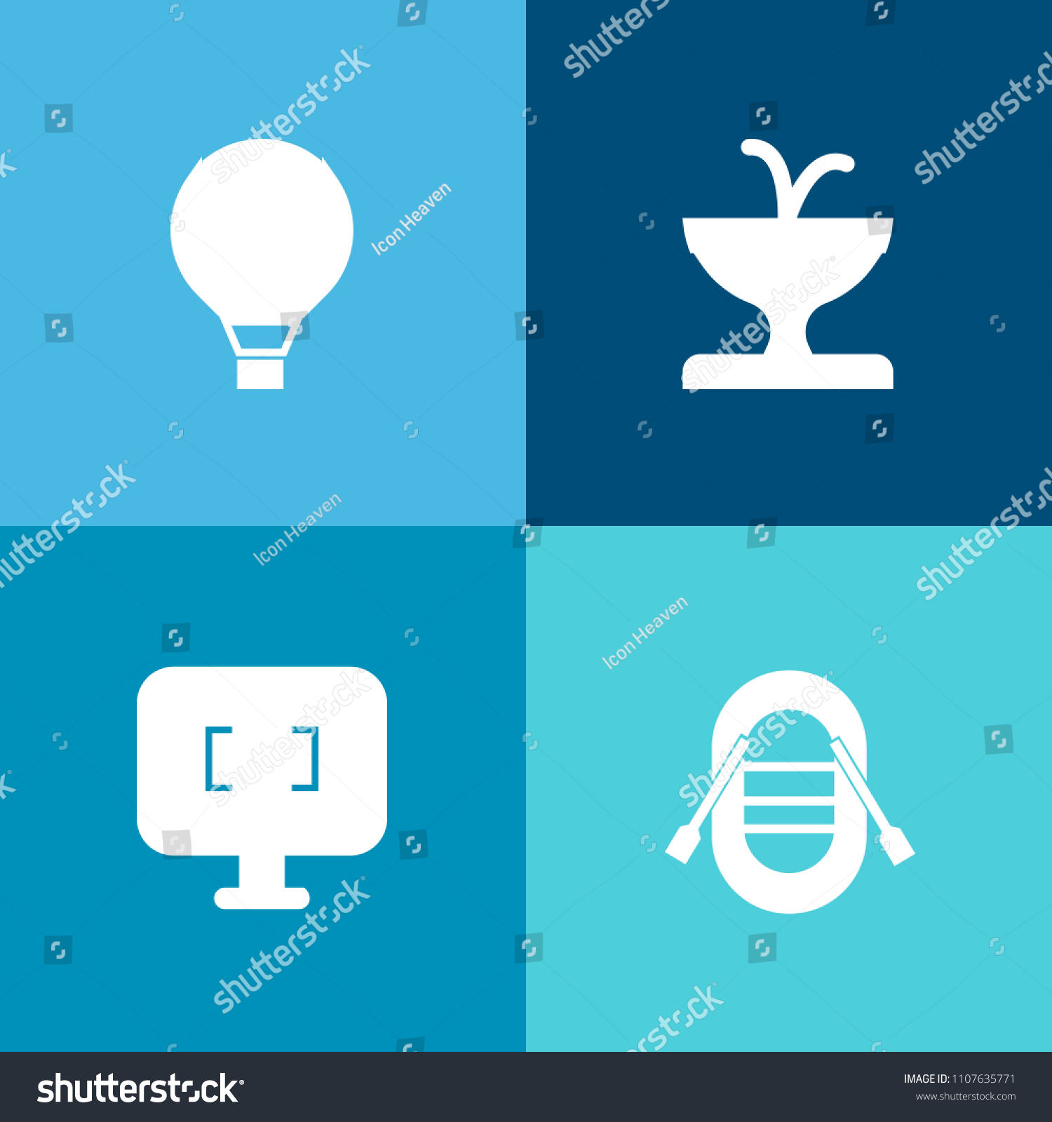 Modern Simple Vector Icon Set On Stock Vector Royalty Free 1107635771