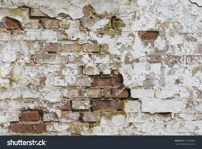 Old Brick Wall With Peeling Paint Ribe Denmark Stock Photo 110779880 Shutterstock