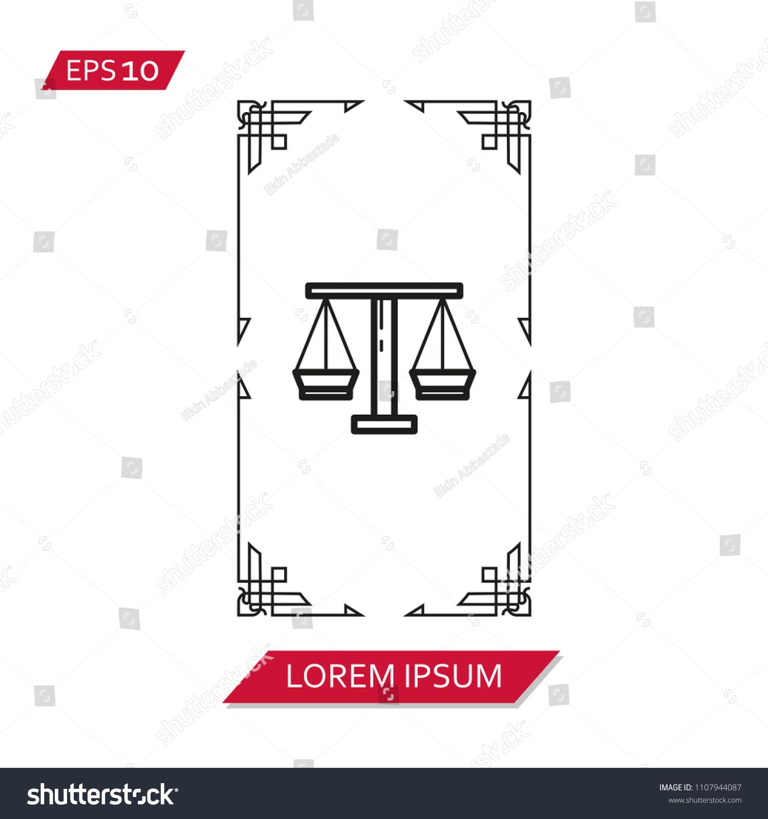 Tarot Cards Vector Icon Symbol Stock Vector Royalty Free