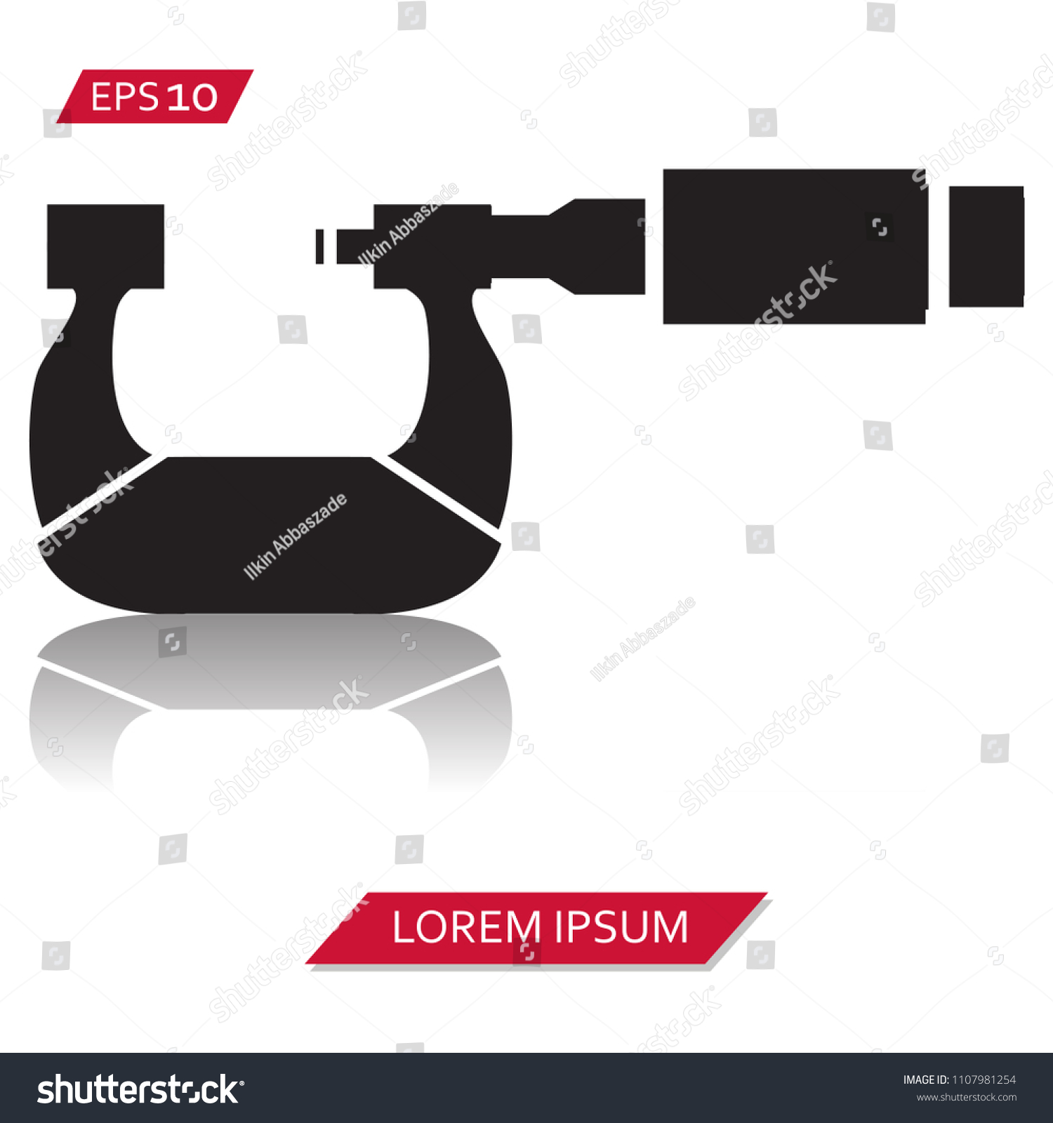Micrometer Vector Icon Symbol Stock Vector Royalty Free 1107981254