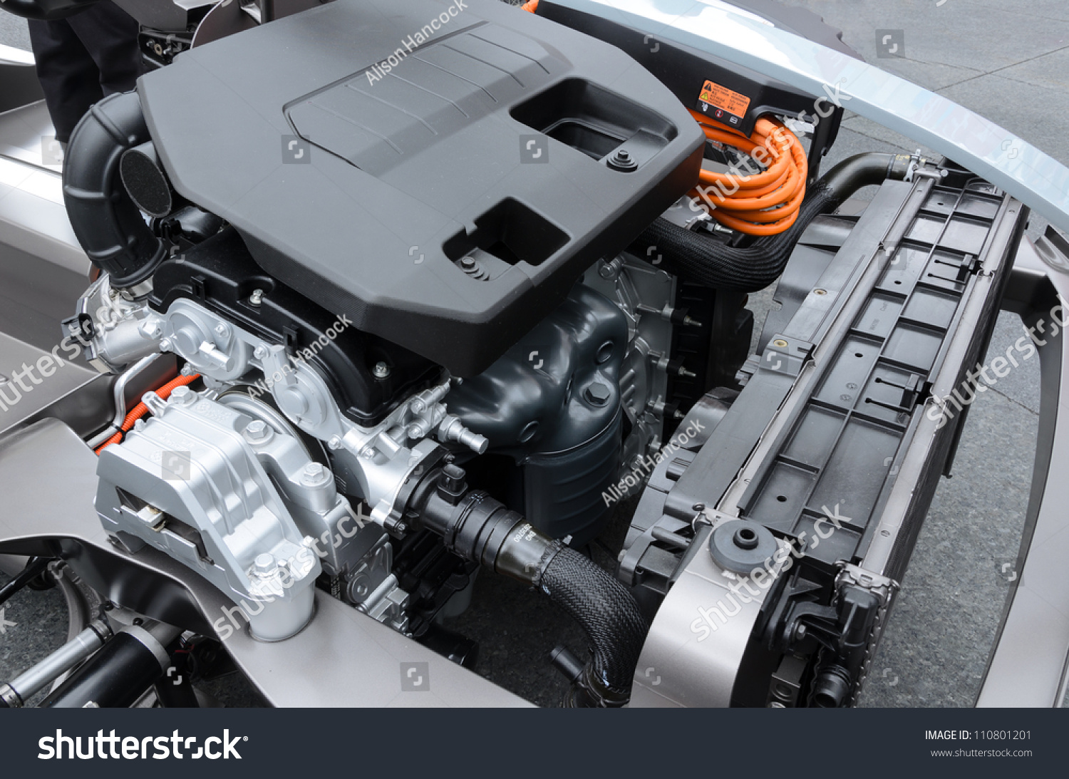 Detail Engine Electric Car Stock Photo (Royalty Free) 110801201 ...