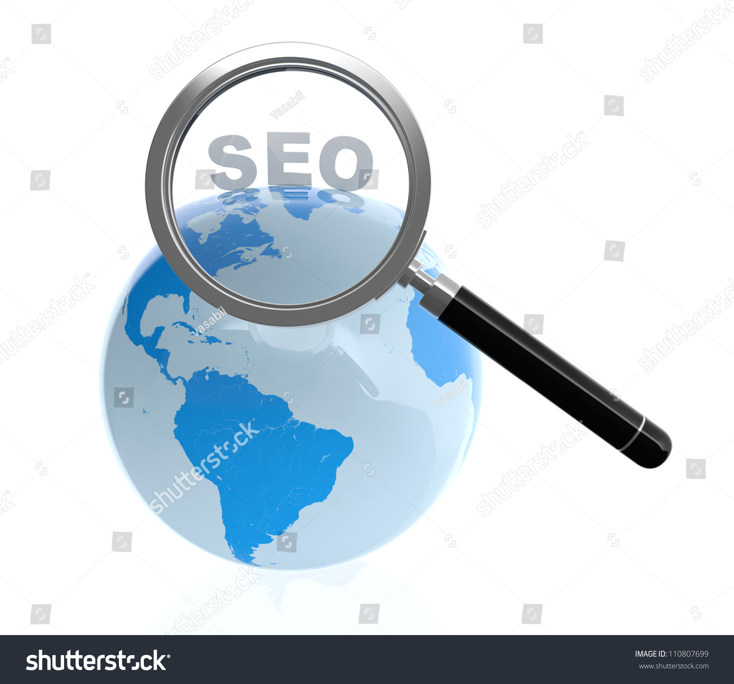 3d illustration of search engine optimization concept for 3d search engine