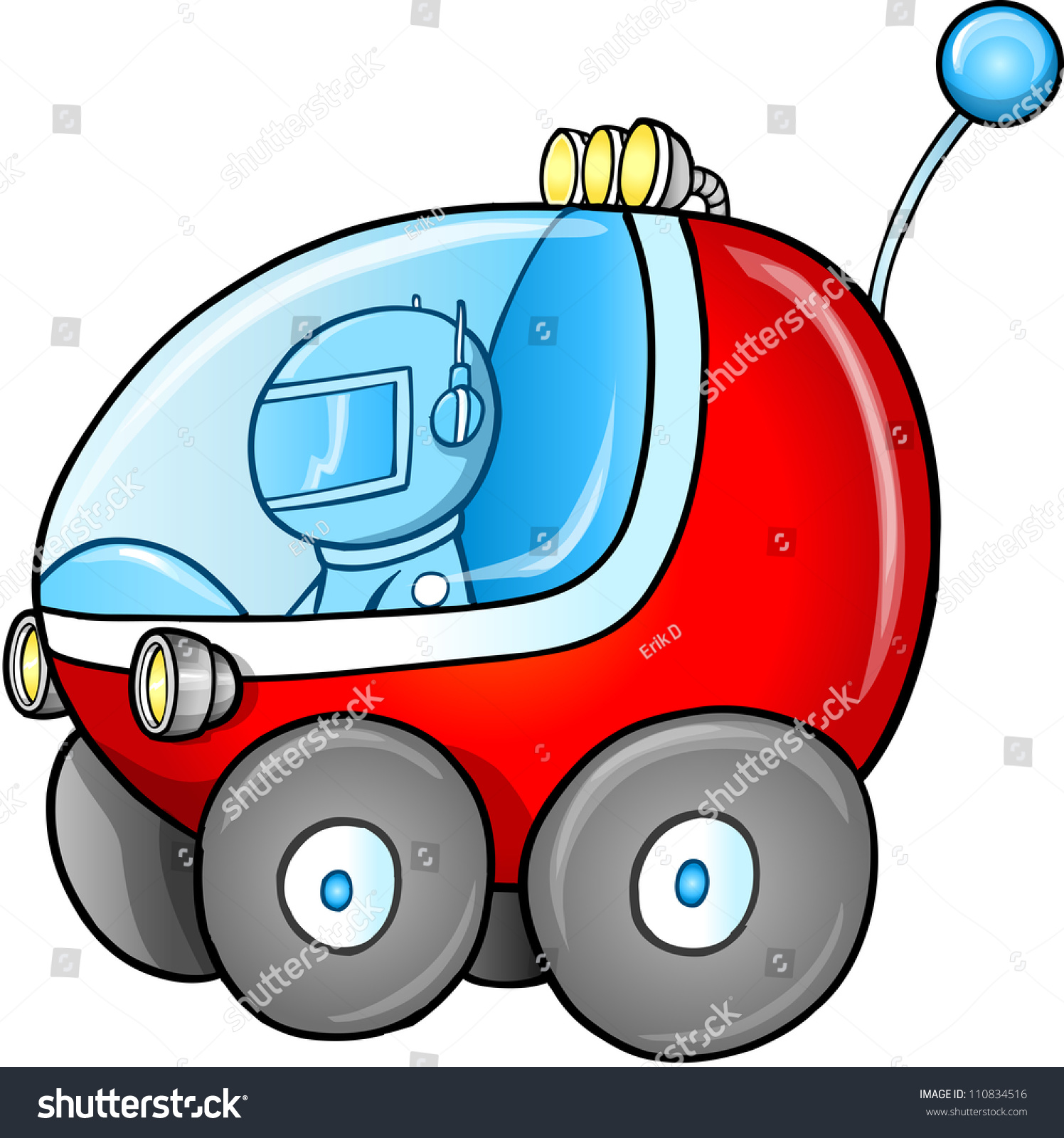 cute outer space moon buggy car vector illustration art 110834516 shutterstock. Black Bedroom Furniture Sets. Home Design Ideas