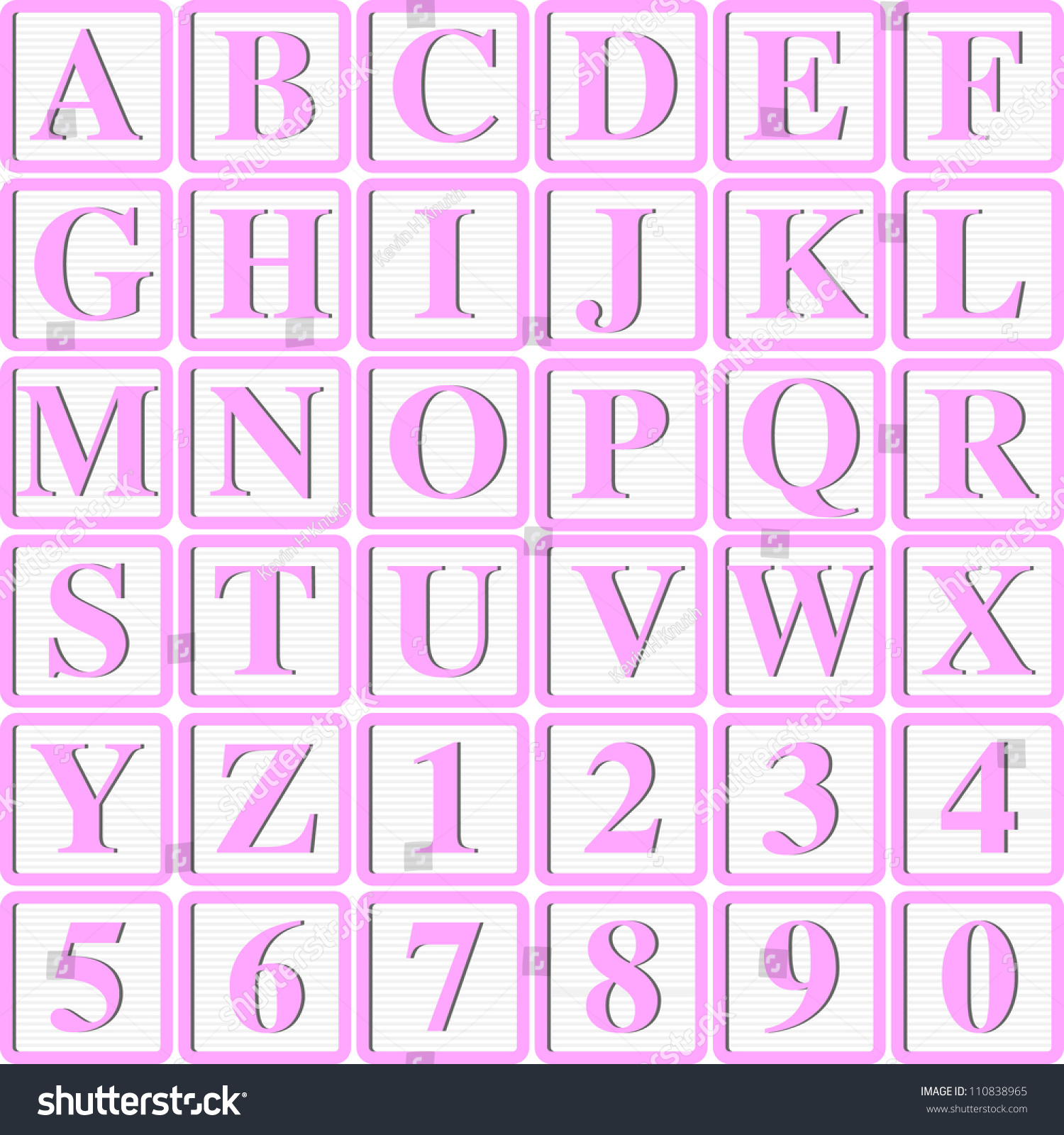 baby girl pink block letters for invitations cards or announcements
