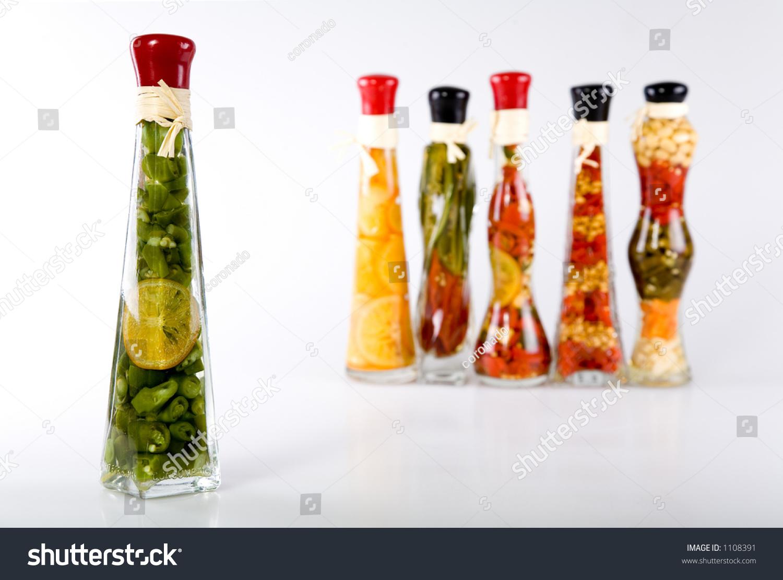 Decorative Filled Bottles For Kitchen