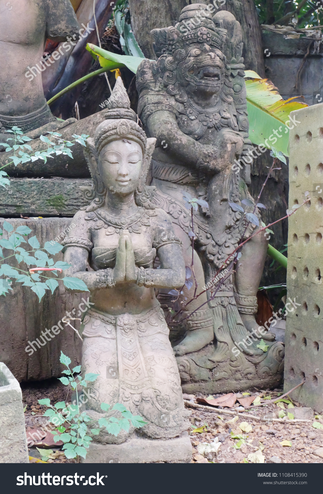 Traditional Thai Statues Simian Traditions Gods Stock Photo (Edit