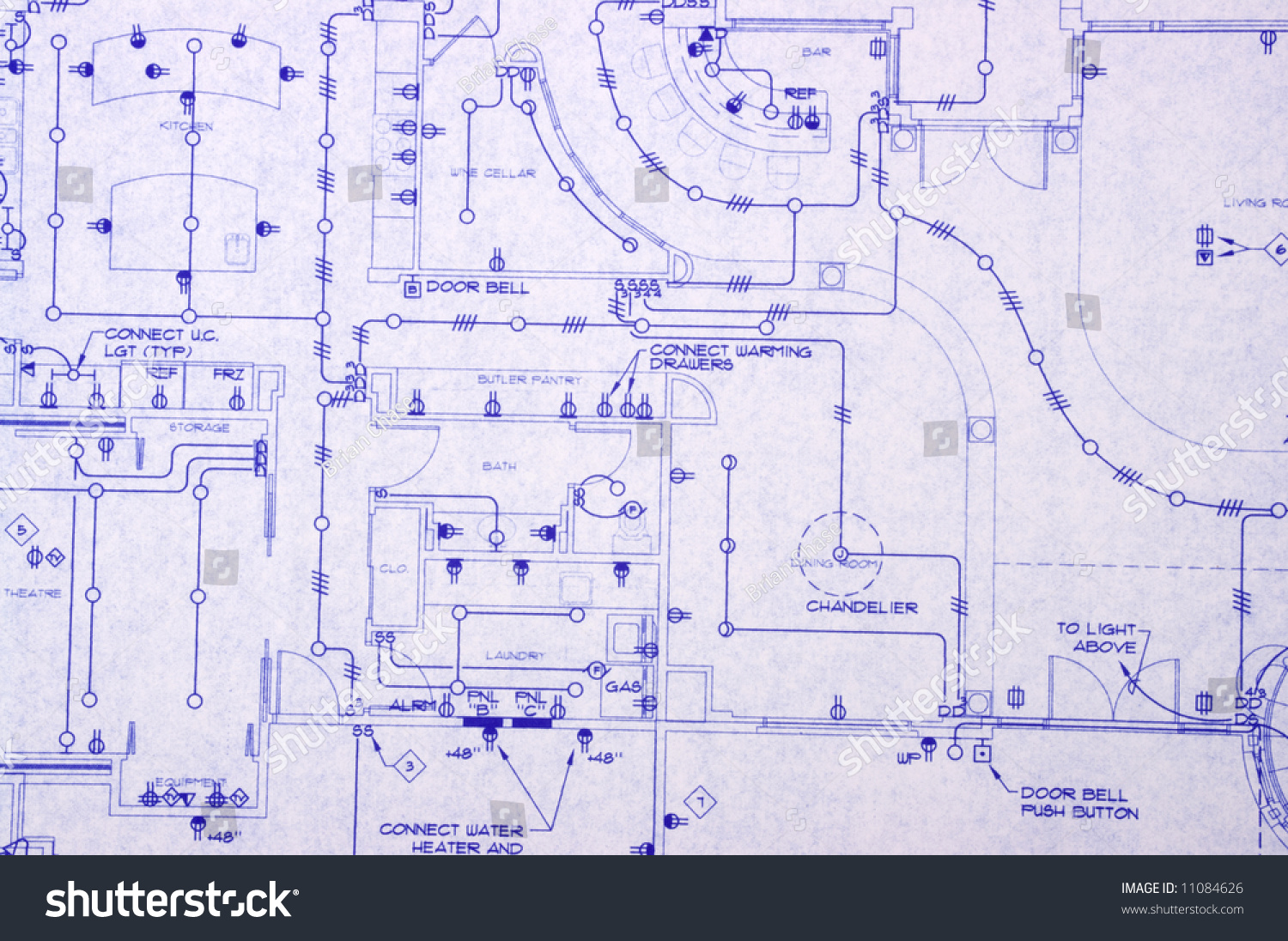 Electrical blueprint house stock photo edit now 11084626 electrical blueprint of a house malvernweather