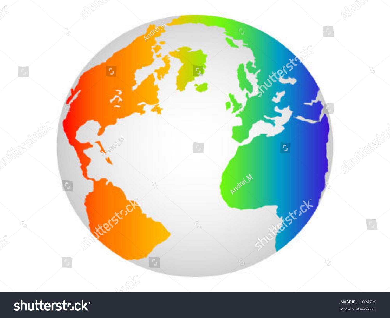colorful world globe stock vector illustration 11084725   shutterstock