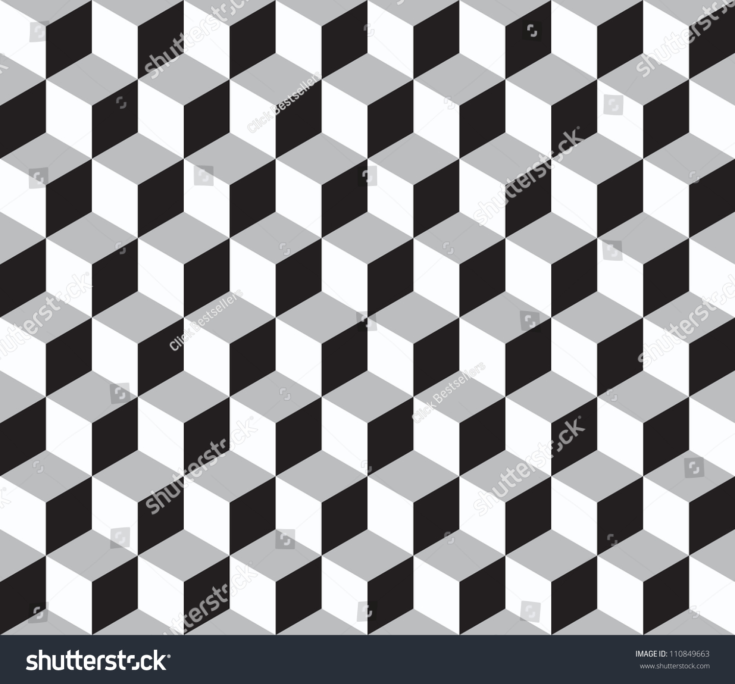 Geometric vector background cube shapes optical stock for Geometric illusion art