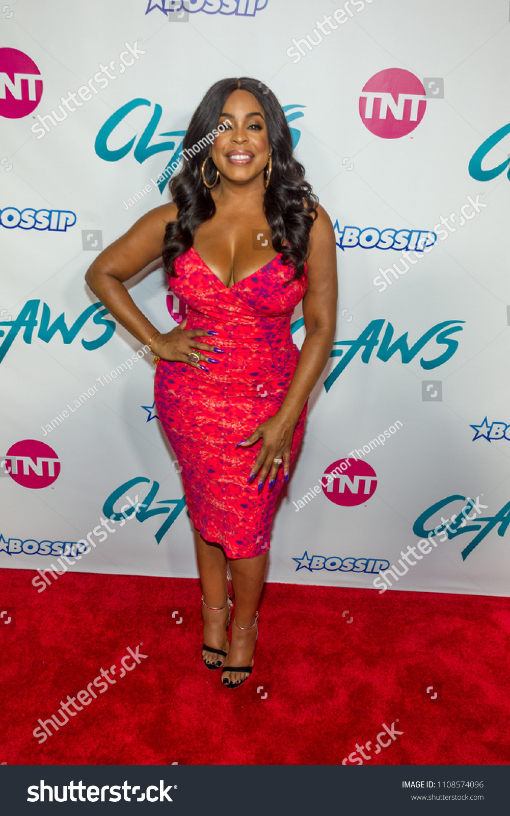 actress niecy nash attending tnt claws stock photo (edit now