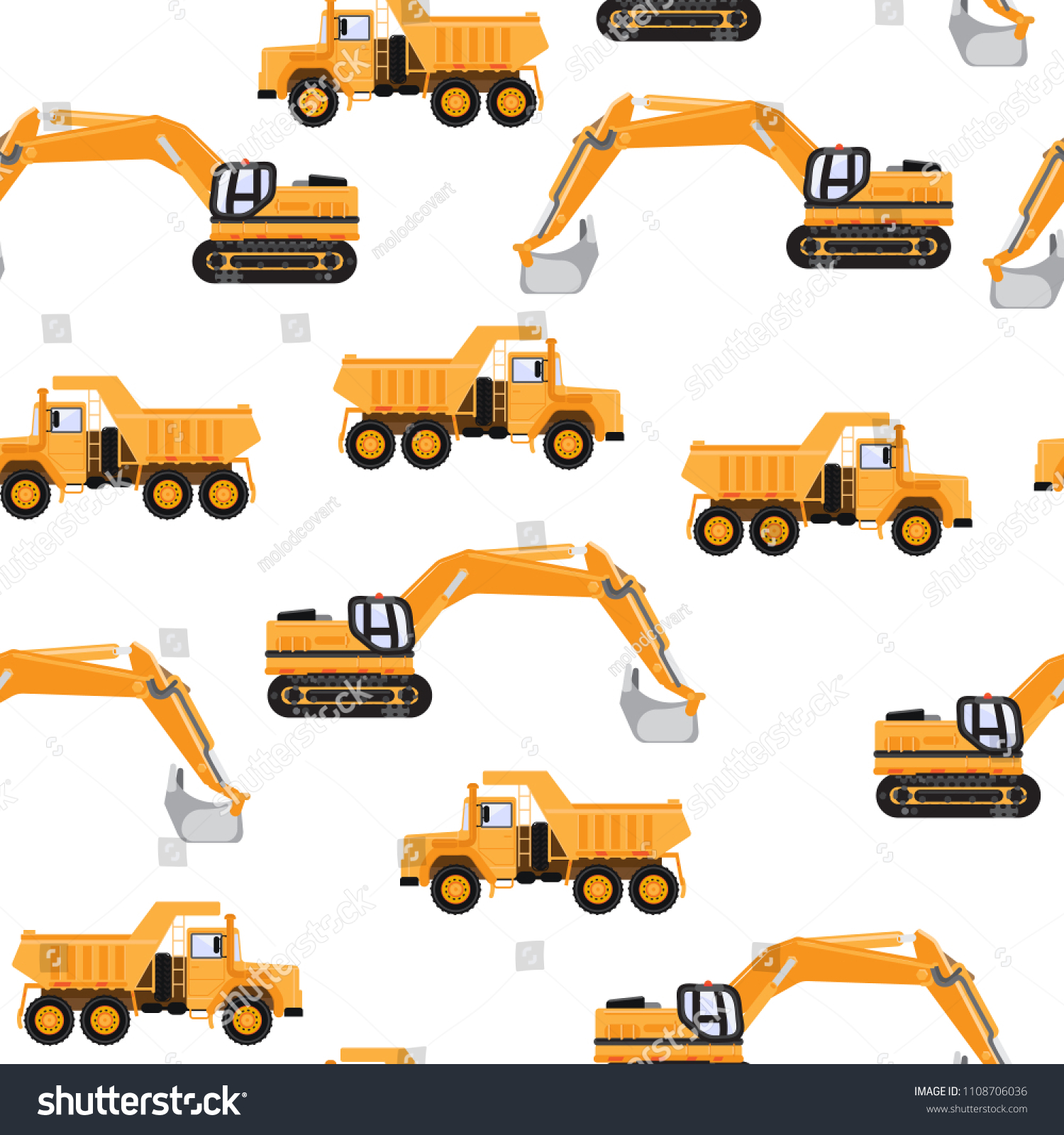 Background Construction Equipment Industrial Cars Stock