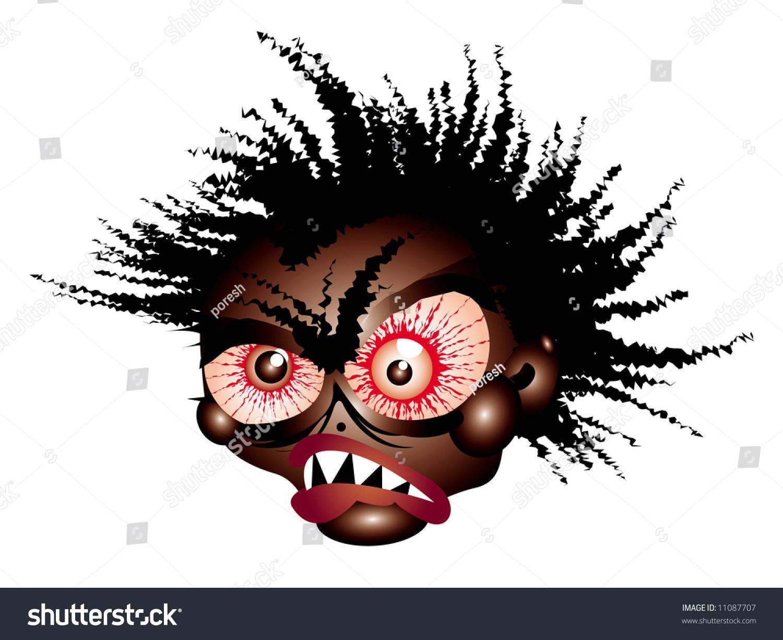 mad ugly face vector illustration stock illustration 11087707 rh shutterstock com Mean Cartoon Faces Mean Cartoon Faces