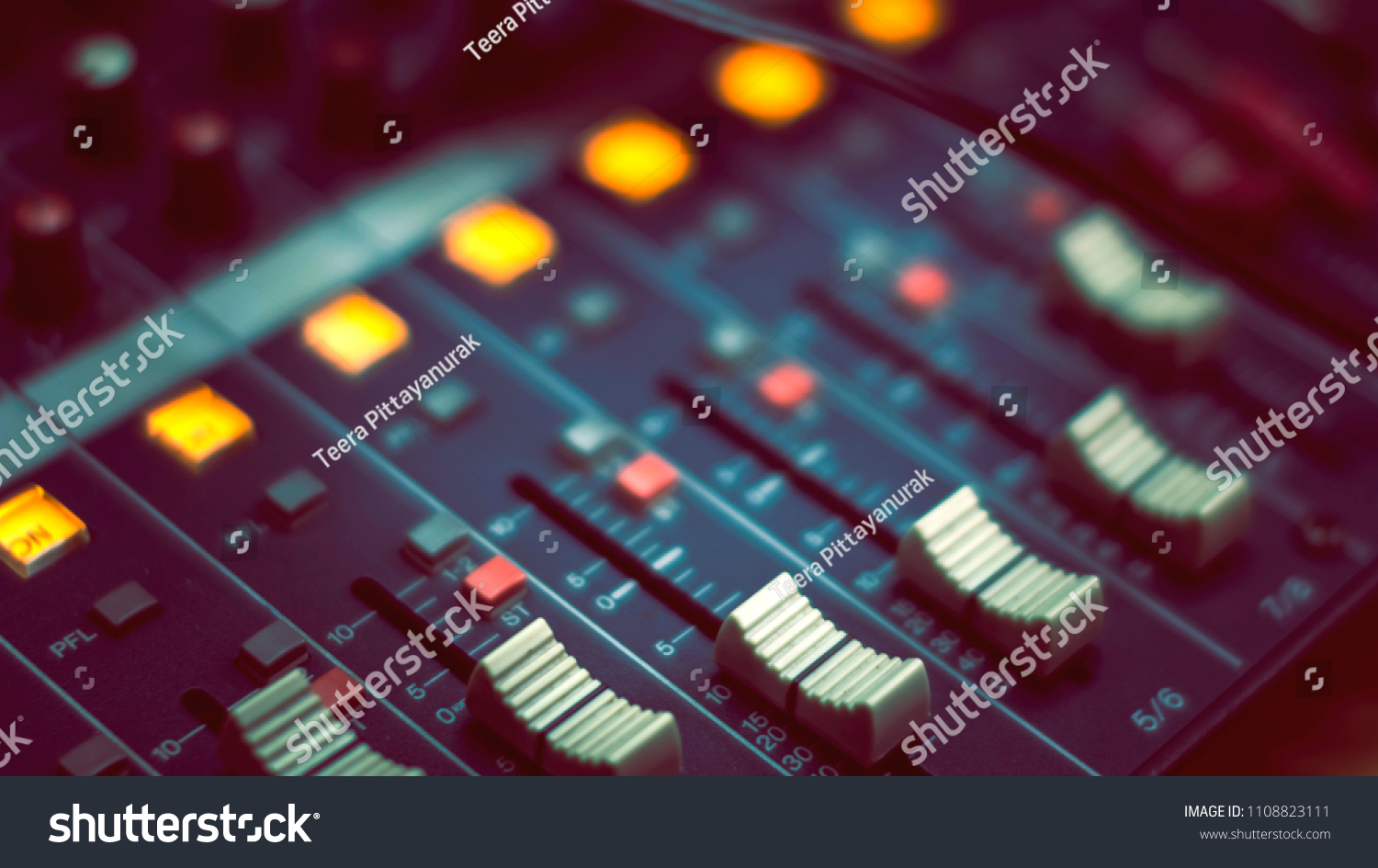 Volume Control Soundboard Room Voice Stock Photo Edit Now Recorder Of The In And