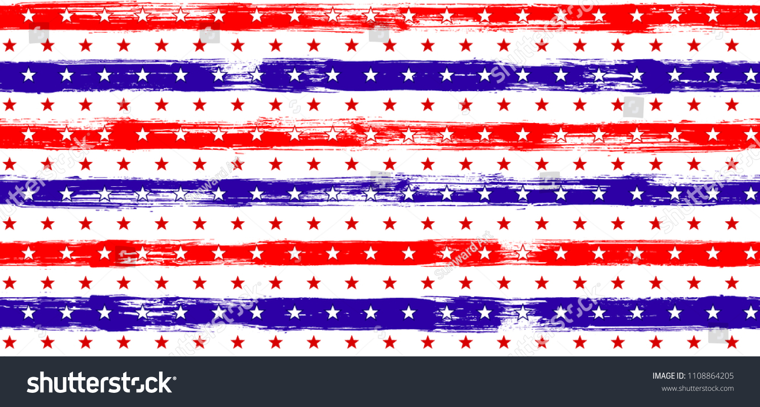 4b0a6a12b53 Independence day Stars and Stripes Navy Seamless Pattern in USA Flag  Colors. American Independence Day