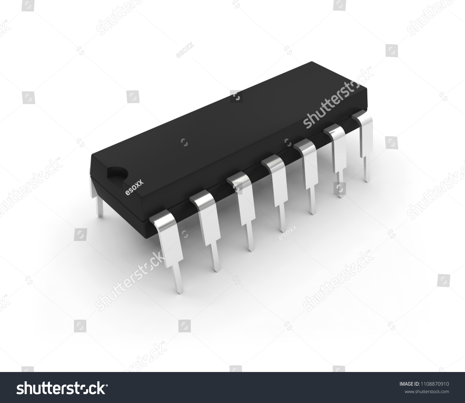 Integrated Circuit Electronic Chip 3 D Illustration Stock Images Of 3d