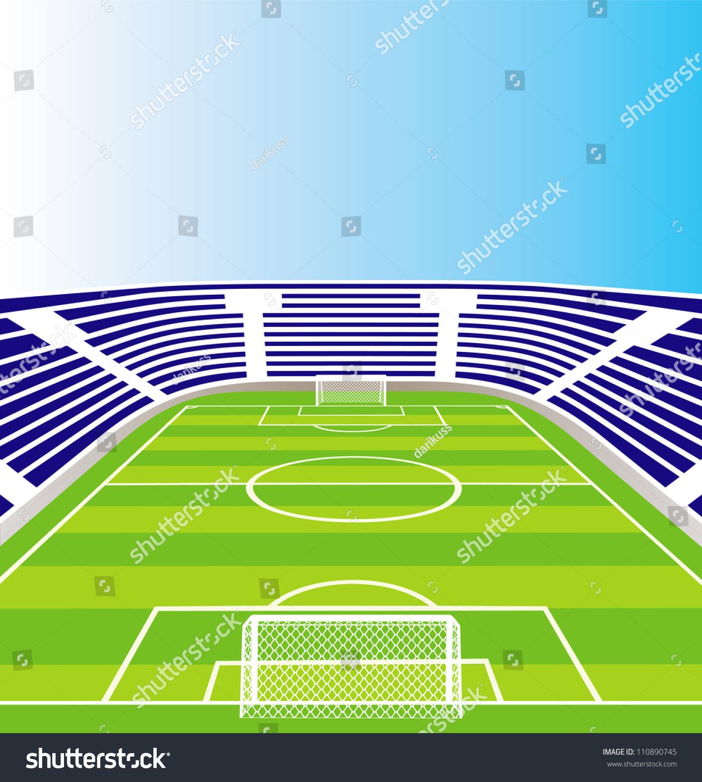 Stadium Lights Svg: Soccer Stadium Stock Vector 110890745