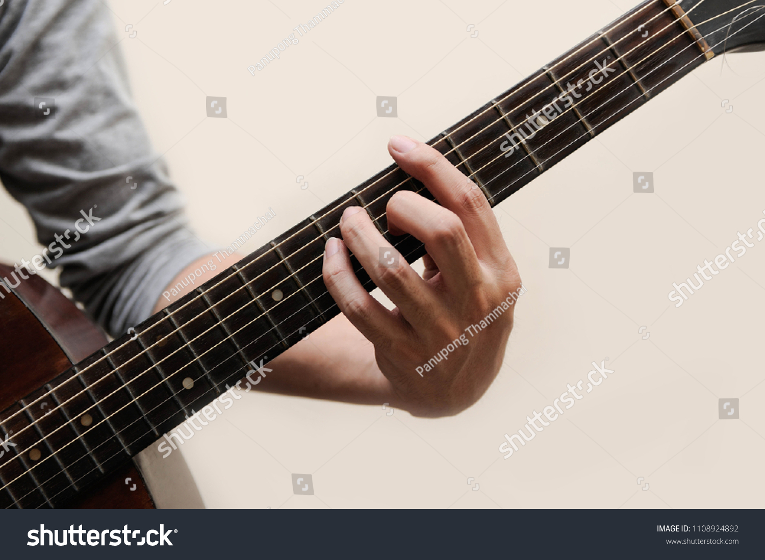 Musicians Catching Guitar Chords Chord Full Stock Photo Edit Now