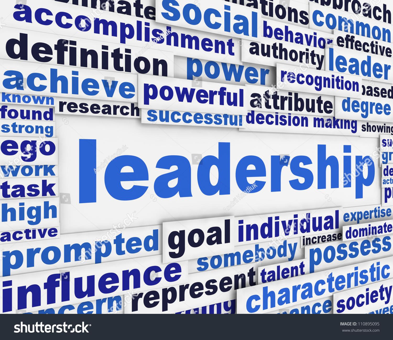 Poster design definition - Leadership Slogan Poster Design Motivation Message Concept