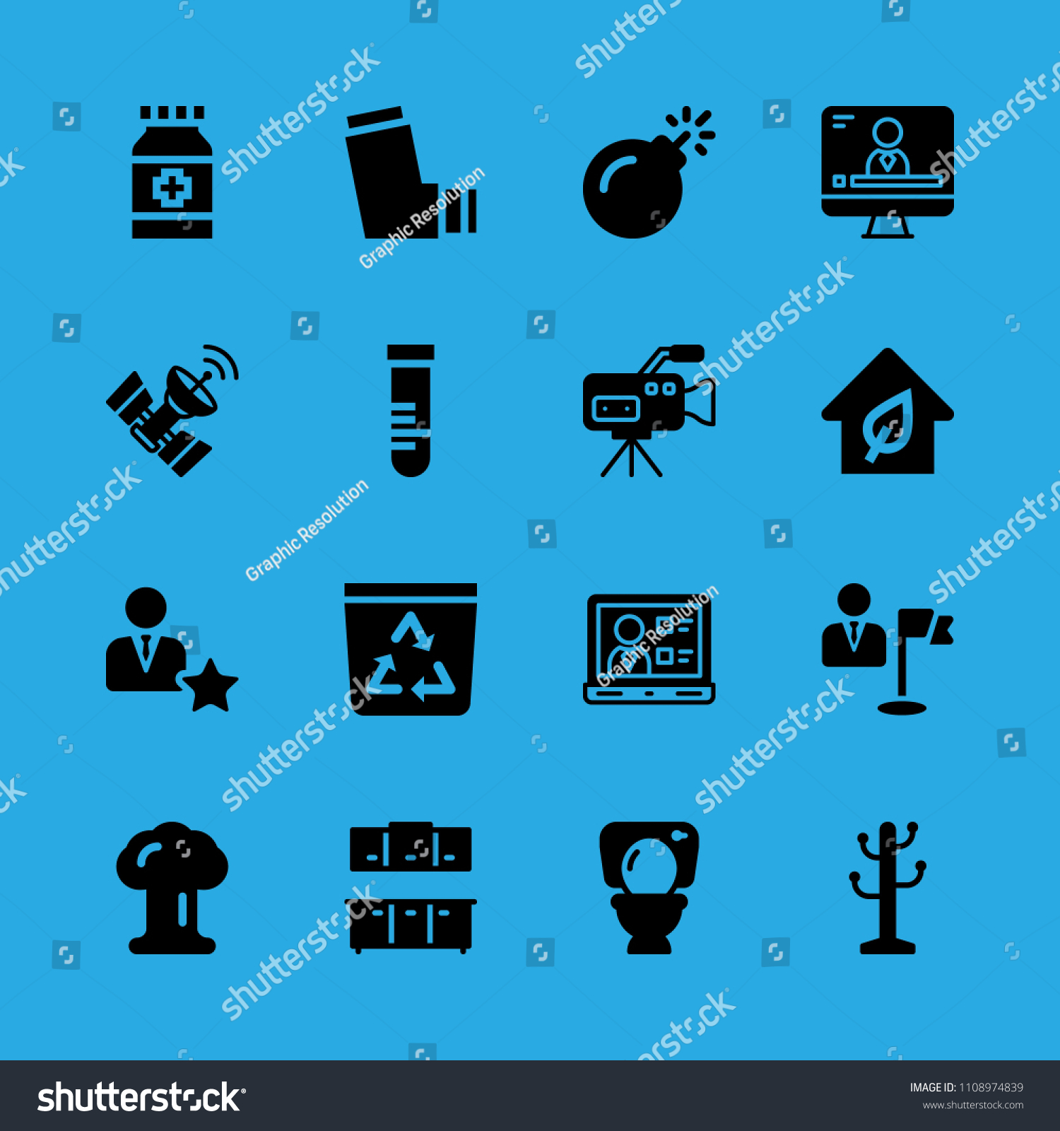 Recycle Bin Laptop Manager Cabinets Toilet Stock Vector Royalty Free 1108974839