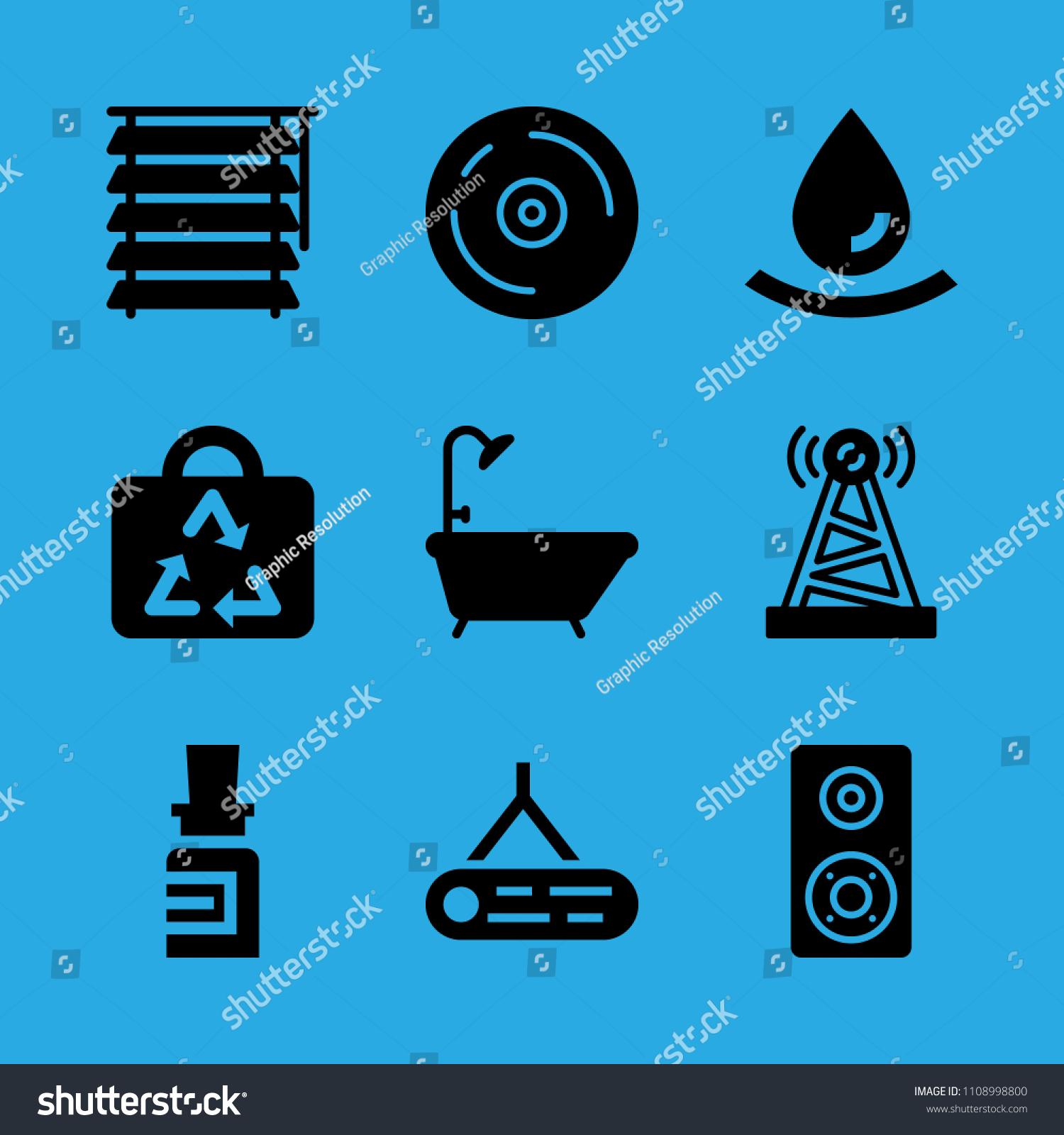 Antenna Medicine Drop Bag Blind Bathtub Stock Vector 1108998800 ...