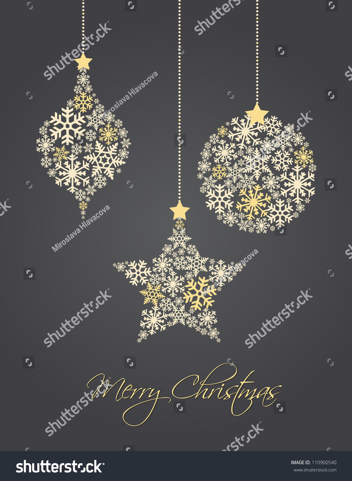 Snowflakes ornaments - Save To A Lightbox
