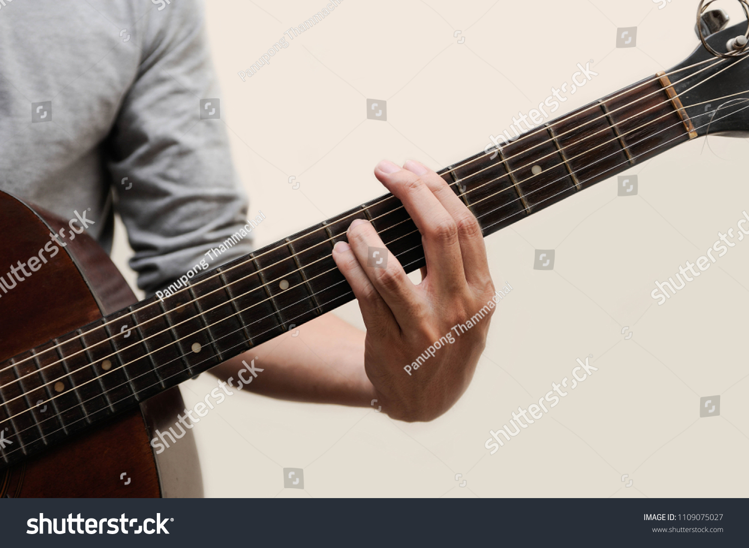 Musicians Catching Guitar Chords Minor Chord Stock Photo Edit Now