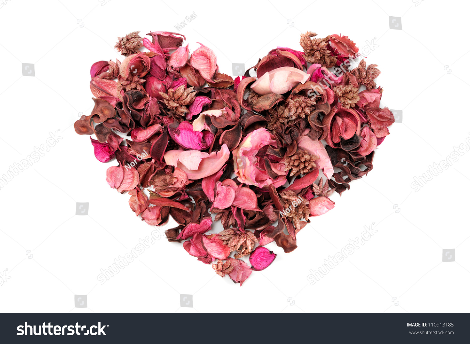 Heart Shaped Dry Aromatic Flowers Isolate Stock Photo 100 Legal