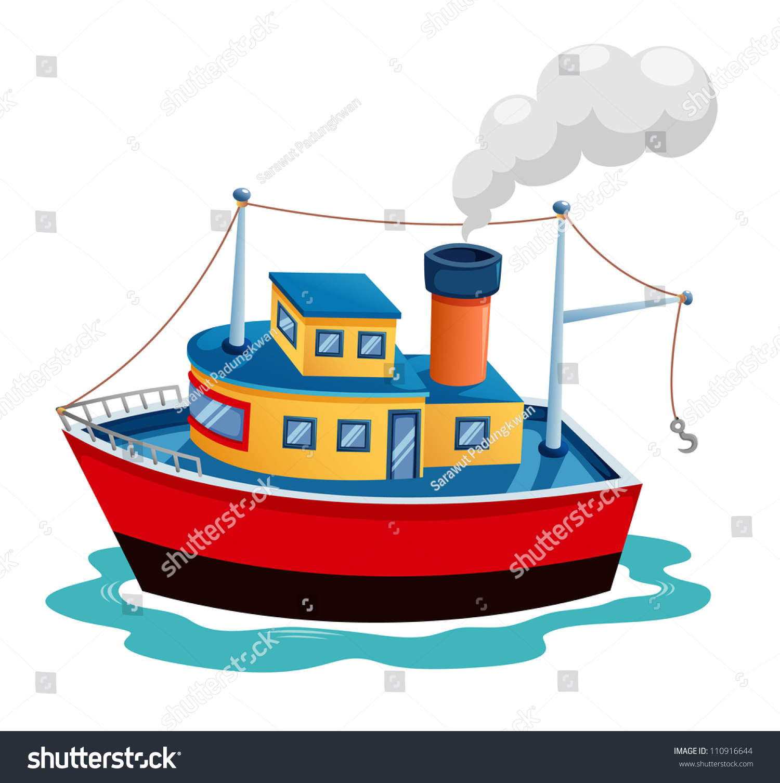 Рисунок пароход